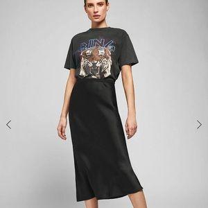 Anine Bing silk skirt black